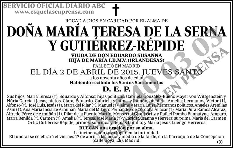 María Teresa de la Serna y Gutiérrez-Répide
